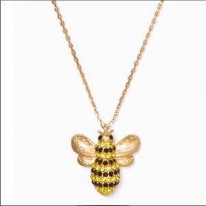 $68 New Kate Spade 12k gold plated bee necklace